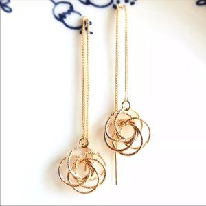 Flower Threader Earrings